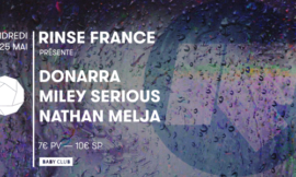 Rinse France continue sa tournée au Baby Club à Marseille
